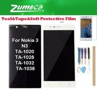 "5.0 ""Voor Nokia N3 Ta 1020 Ta 1028 Ta 1032 Ta 1038 Nokia 3 Lcd scherm + Touch Screen Digitizer 2 Kleur Met Kits-in LCD's voor mobiele telefoons van Mobiele telefoons & telecommunicatie op"