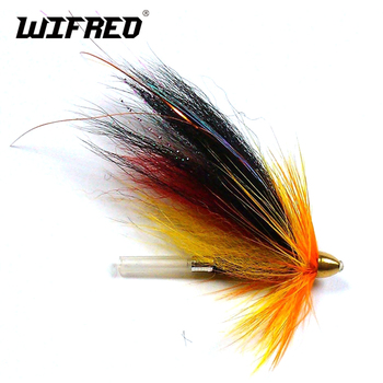 [4PCS] Conehead Tubo Fly Fishing Flies Salmon Sea Tourt Fishing Teaser Tube Lure Free Box image