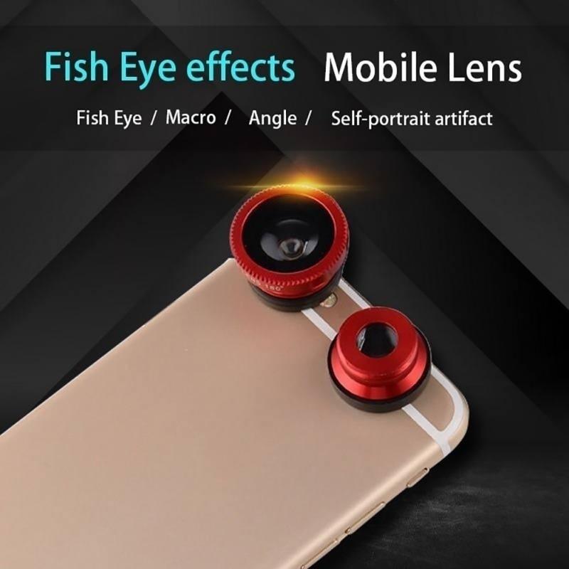 3 в 1, объектив «рыбий глаз»