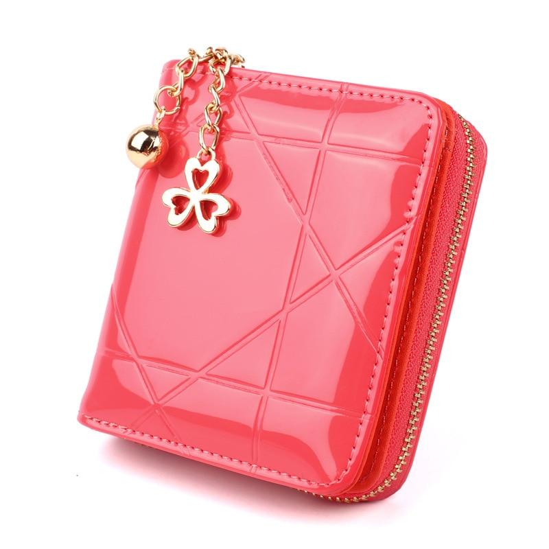 Brand Wallet Women Oil Wax Wallet Short Slim Bifold Small Change Purse Female Zipper Coin Purse Card Holder