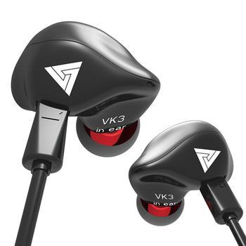 Nuevo QKZ VK3 Universal 3,5mm en la oreja auriculares con cable HiFi música deporte auriculares con micrófono