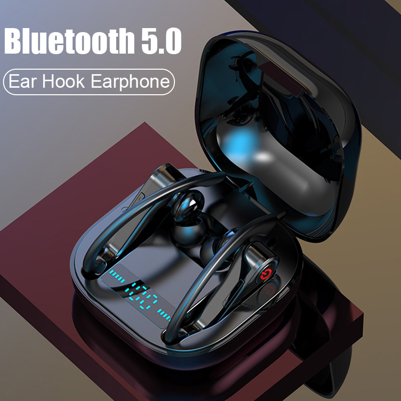 H&A New Wireless Bluetooth V5.0 Earphone Ear Hook Wireless Headphone Sports Earphone For IPhone For Samsung Xiaomi Android Phone