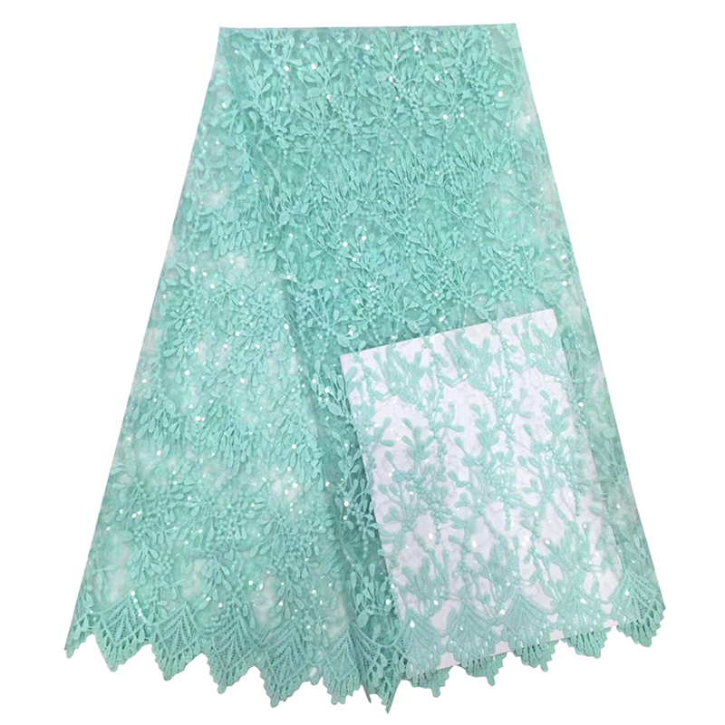 Latest African Lace Fabric Wonderful Floral Appliques Embroidered High Quality Tulle French Lace Fabric For Women Evening Dress