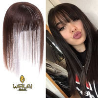 WEILAI Fake bangs reissue straight hair simulation hair sparse white hair head reissue a female 3D bangs wig