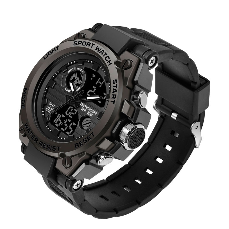 Hc435f3005d6143b087d2830cf31370d7Z - SANDA 739 Sports Men's Watches Top Brand Luxury Military Quartz Watch Men Waterproof S Shock Male Clock relogio masculino