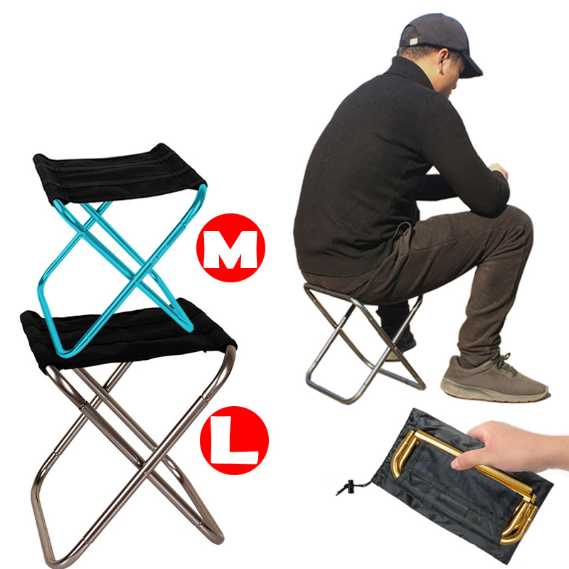 Folding Camping Chair Lightweight Picnic Fishing Chair Foldable Aluminium Cloth Outdoor Portable Beach Chair Outdoor Furniture