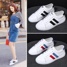 Genuine Leather 2019 Autumn Women Casual Shoes Cute Training Sneakers Sports Platform White Sneakers Tennis Female moda mujer