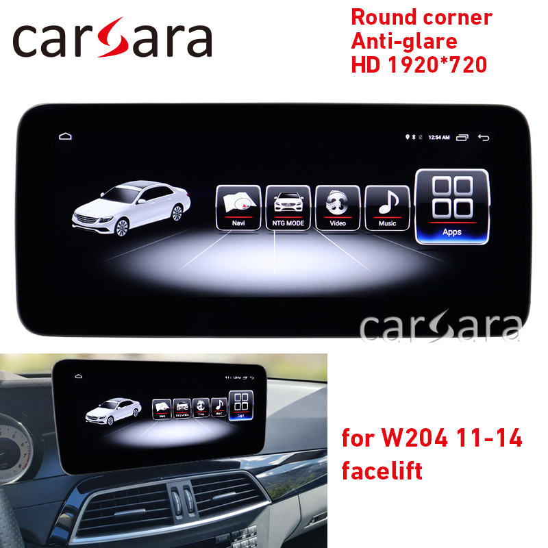 <font><b>Autoradio</b></font> C class <font><b>W204</b></font> facelift round corner screen C180 anti-glare display C200 4G RAM 1920 tablet C350 <font><b>android</b></font> 8.1 navigation image