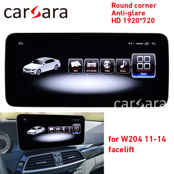 Autoradio C class W204 facelift round corner screen C180 anti-glare display C200 4G RAM 1920 tablet C350 android 8.1 navigation image