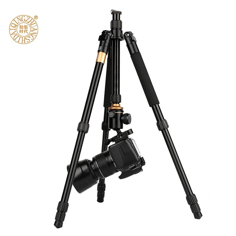 Black Camera Tripod 170cm Max Load Weight 6Kg Aluminum Alloy Tripod Compact 360 /° Panorama Tripod for Smartphone SLR Cameras