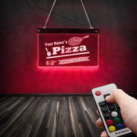 Authentic Italian Pizza Restaurant LED Display Board Custom Name Lighting Decor Wall Art Personalized Pizzeria Neon Wall Sign