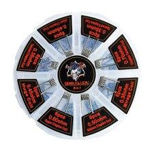 48 pçs cabeça fantasma 8-em-1 fio de aquecimento eletrônico cigarro acessórios para caixa mod rda rta tanque vape bobinas