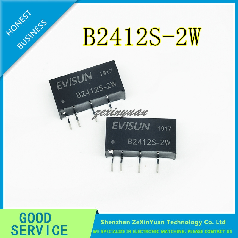 B2412S-2W DC-DC Buck Module 24V Turn 12V Isolated Power Module 2W