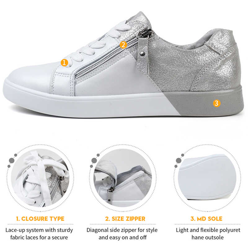 STQ 2020 yeni varış kadın düz ayakkabı zip hakiki deri ayakkabı kadın bahar sonbahar karışık renk moda sneakers kadın FY16010