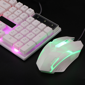 Combo PC Gamer LED Gaming Keyboard And Mouse Set Wired 2.4G Keyboard Gamer Keyboard Illuminated Gaming Keyboard Set For Laptop 6
