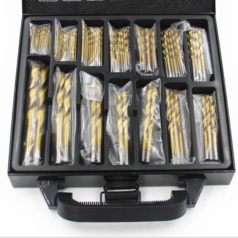 Hole Opener HSS Twist Drill Bits Set DIY Woodworking 1.5-10mm Titanium Coated Surface 118 Degree For Drilling Woodworking
