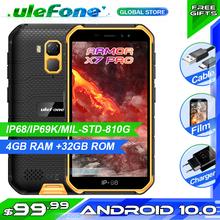 Osłona Ulefone X7 Pro IP68 smartfon wodoodporny Android10 wytrzymały telefon 4GB RAM NFC 4G LTE 2 4G 5G telefon WLAN tanie tanio Nie odpinany CN (pochodzenie) Rozpoznawania linii papilarnych Rozpoznawania twarzy Inne 13MP 4000 Nonsupport Smartfony 5G Wi-Fi