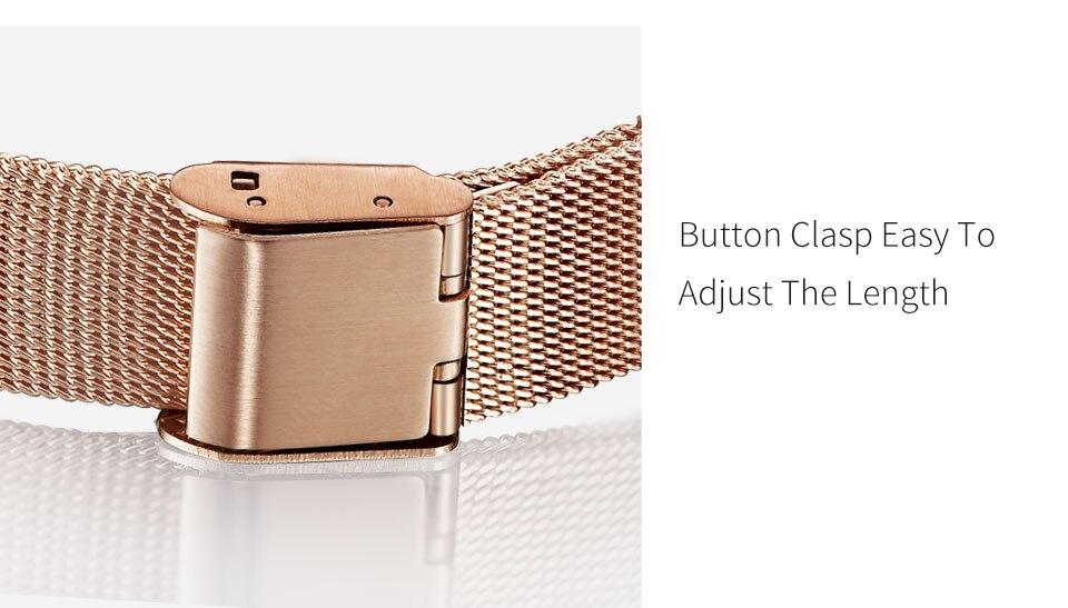relogio feminino rosa ouro pulseira relógio senhora