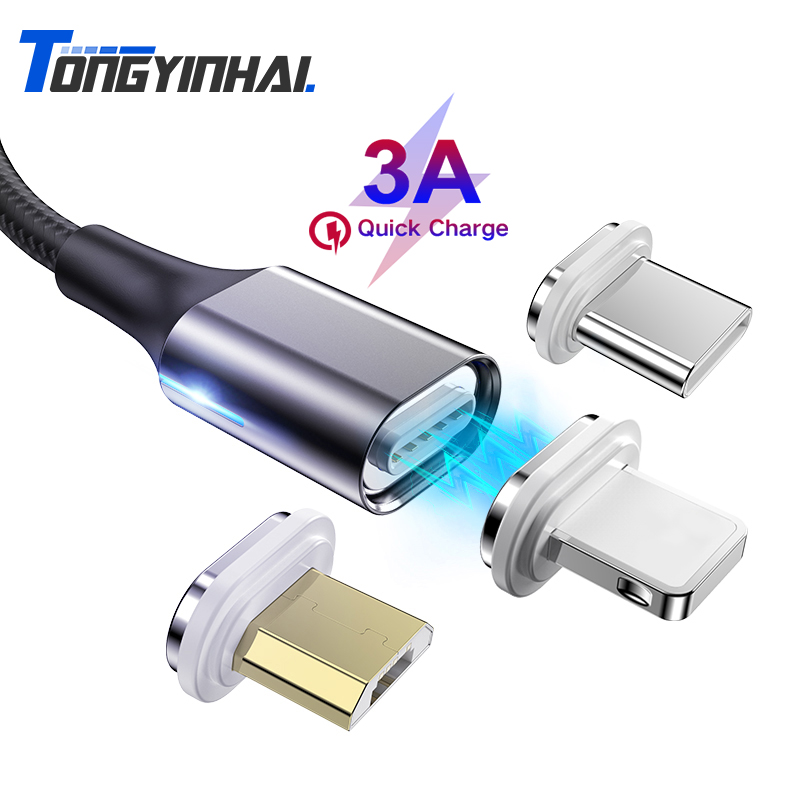 USB Charger Cable Micro Type C Quick Magnetic Charger Magnet Phone Charging Cable Magnetic Cable Plug Fast Charging Data Cord|Mobile Phone Cables|   - AliExpress