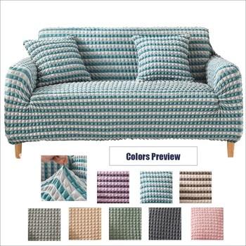 Blue Velvet spandex sofa cover for living room solid sectional elastic sofa cover home fundas slipcover sofa top quality stretch