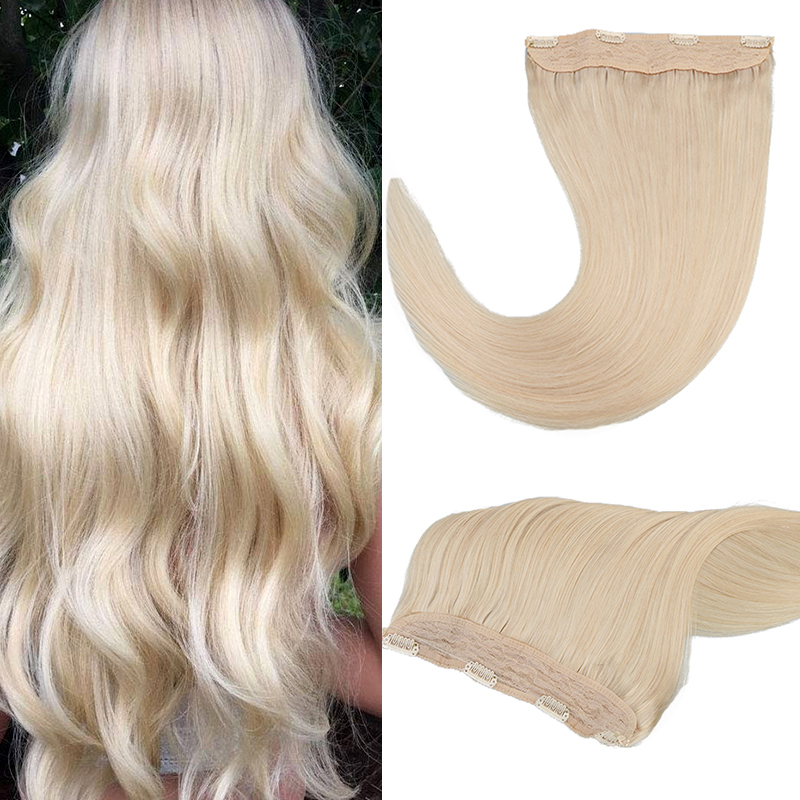 Toysww Straight Machine Remy European Flip Human Hair In Stock 14-22 70-85g Fish Line Hair Extension Blonde Color 60