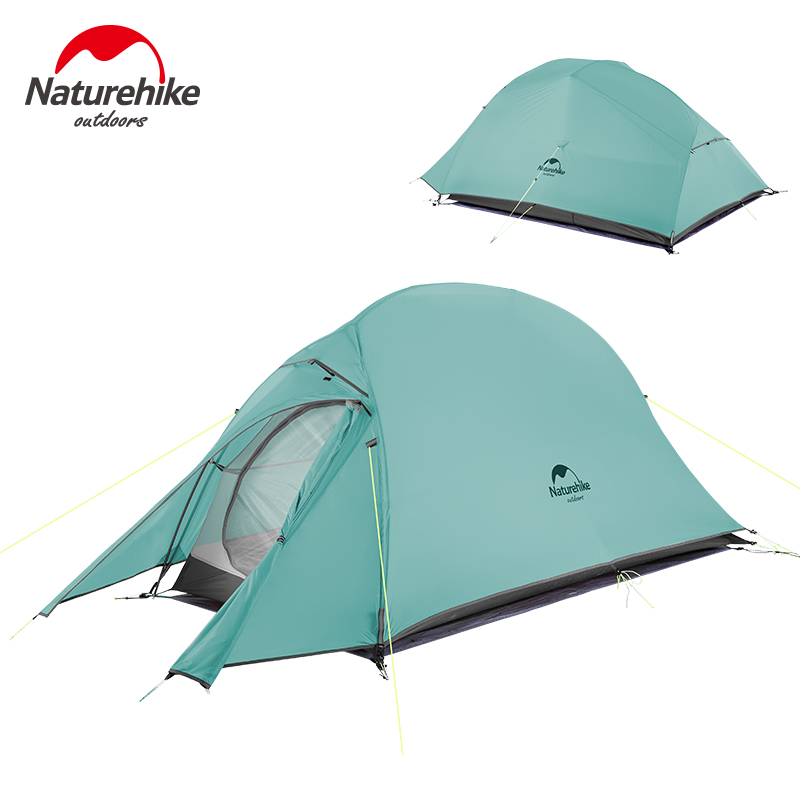 Naturehike New 2 Person Ultralight Professional Camping Tent 20D Silicone Windproof Outdoor Hiking Backpacking Tent Free Mat