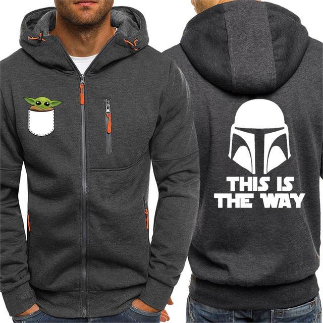 Baby Yoda Hoodie Sweatshirt Star Wars Rise of Skywalke Tracksuit The Mandalorian Hoodies Mens This Is The Way Starwars Jacket