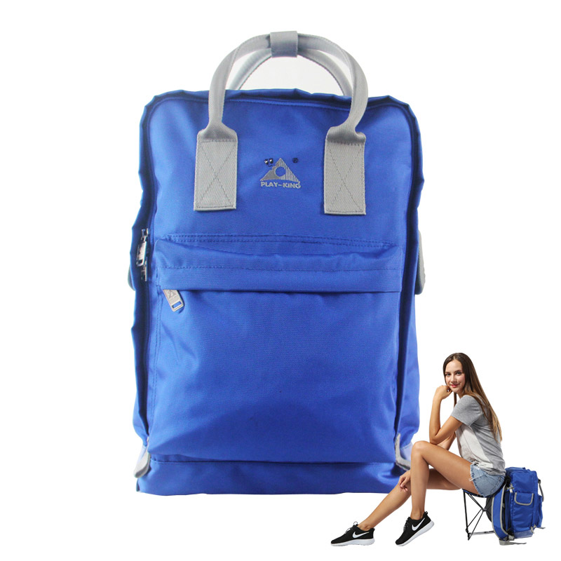 Outdoor Sports Fishing Backpack With Folding Chair Nylon Waterproof Women Bags For Hiking Camping Traveling Chair