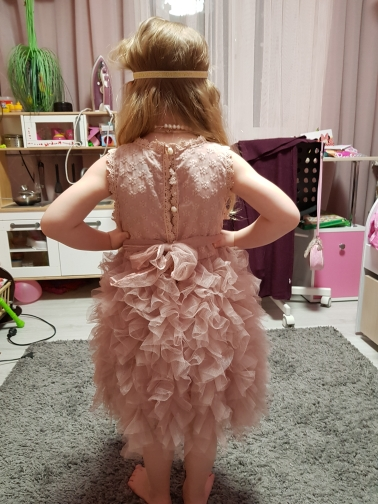 Children Formal Clothes Kids Fluffy Cake Smash Dress Girls Clothes For Christmas Halloween Birthday Costume Tutu Lace Outfits 8T 2