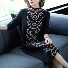 Zuoman женское платье свитер в винтажном стиле модное с О образным