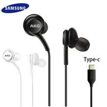 Samsung akg tipo-c in-ear fones de ouvido ig955 com microfone fio fone de ouvido para galaxy samsung s20 note10 huawei xiaomi smartphone