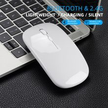 M90 Dual Mode Wireless Mouse Bluetooth 5.0 + 2.4Ghz mouse For PC Laptop Macbook Matebook