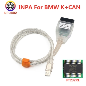 Full Chip INPA For BMW K CAN K+DCAN USB Interface With Switch FT232RL Chip INPA USB Cable 20pin Adapter For BMW From 1998-2013 image