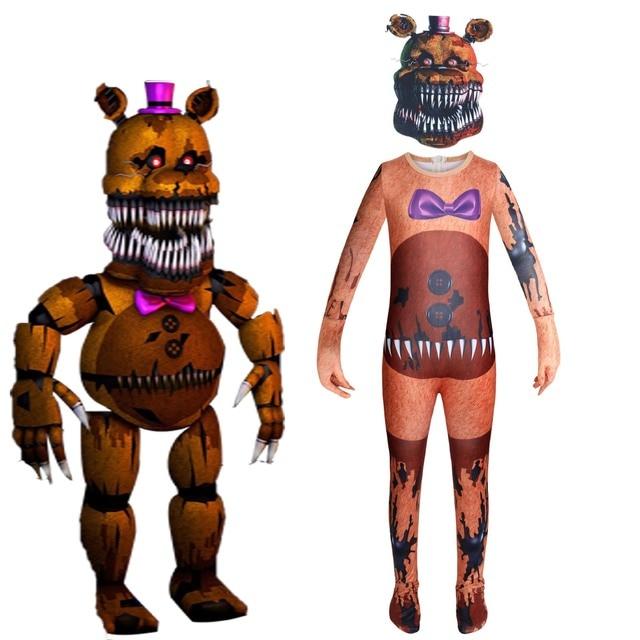 Kids Five Nights At Freddy/'s Foxy New Fancy Dress Child Boys Halloween Costume
