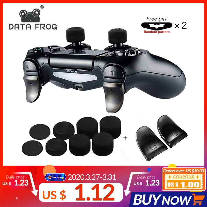 DATA FROG 2pcs/Set L2 R2 Buttons Extension Trigger For PS4 Controller For PS4 Extension Button For PS4 Gamepad Game Accessories