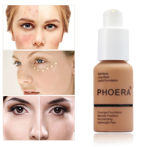 PHOERA Liquid Foundation Mineral Touch Whitening Concealer Soft Matte Oil-control Hot Deals Foundation Makeup TSLM1(China)