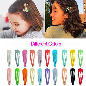 Image 2 - 5cm לערבב מוצק צבע מתכת Hairgrip בנות הצמד שיער קליפים לילדים בייבי שיער אביזרי נשים סיכות קליפ סיכות BCC05
