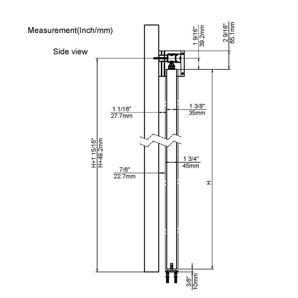 Kit de Rail de porte coulissante intérieure en aluminium de 6.6ft 1 Rail avec fermeture douce pour goujon mural de 16