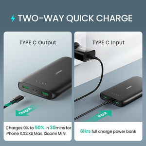 Image 2 - Ugreen Power Bank 20000mAh Fast Phone Charger Quick Charge 4.0 QC3.0 Portable External Battery for iPhone 12 XiaoMi PD Powerbank