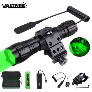 5000lm XM-L Q5 T6 Led Weapon Gun Light White Tactical hunting Flashlight+Rifle Scope Airsoft Mount+Switch+18650+USB Charger+Case