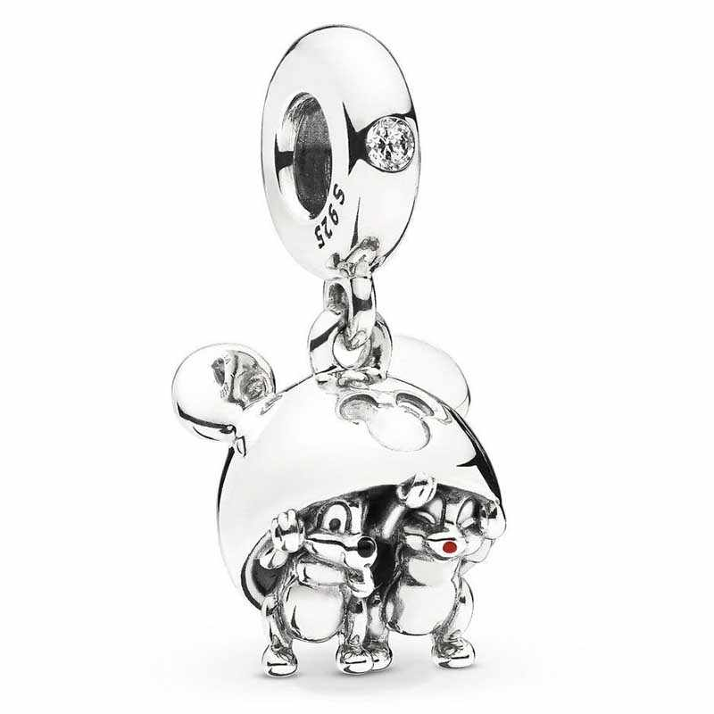 100% Echt 925 Sterling Zilveren Chip Dale Mickey Oor Hoed Charm Diseny Charms Fit Originele Armband Diy Sieraden