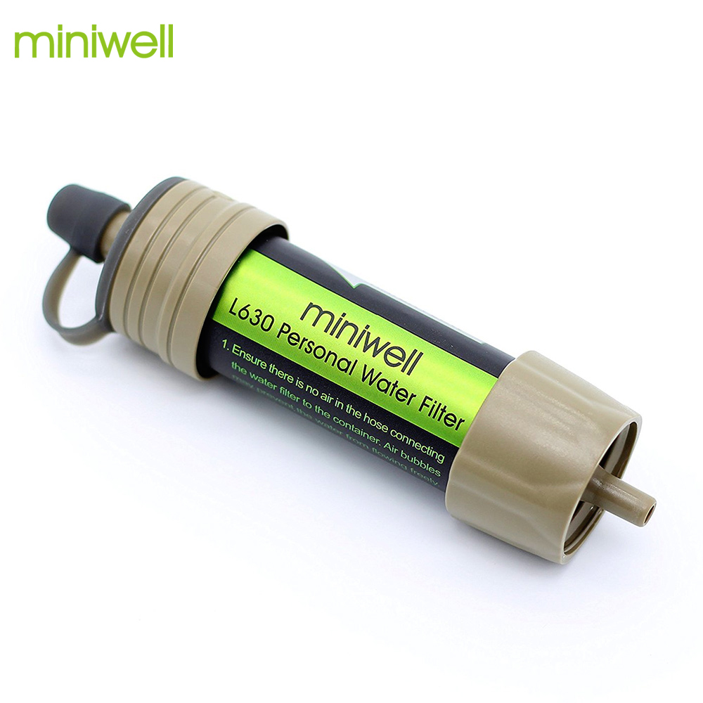 Miniwell survival water purifier for outdoor sport activities and travel