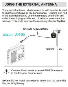 Image 5 - Tecsun AN05/AN03 外部アンテナすべての適切なtecsunラジオや他のブランドのラジオ改善リスニング品質