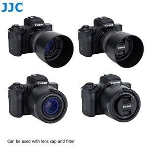 Image 2 - JJC Camera Lens Hood For Canon EF M 32mm f/1.4 STM Lens On Canon EOS M200 M100 M50 M10 M6 Mark II M5 M3 Replaces Canon ES 60