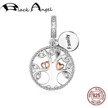 Original 925 Sterling Silver Tree of Life Heart Charms Beads Fit DIY Bracelet Pendant Women Fine Jewelry tree of life 925 sterling silver tree of life family tree charms beads fit bisaer charm bracelet diy beads 925 silver jewelry