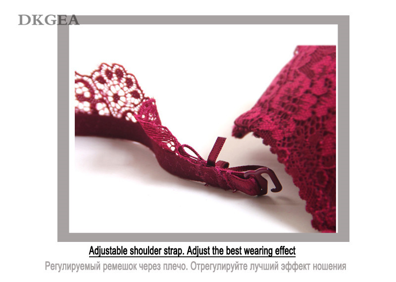 Classic Black Women Underwear Lace Embroidery Push up Bra Cotton Thick Brassiere A B C Cup Sexy Bras Adjustable Deep V Lingerie 14