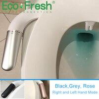 Ecofresh Bidet Befestigung Ultra-Dünne Wc Mit Messing T-stecker Einstellbare Wasser Druck Selbst-reinigung Ass Sprayer