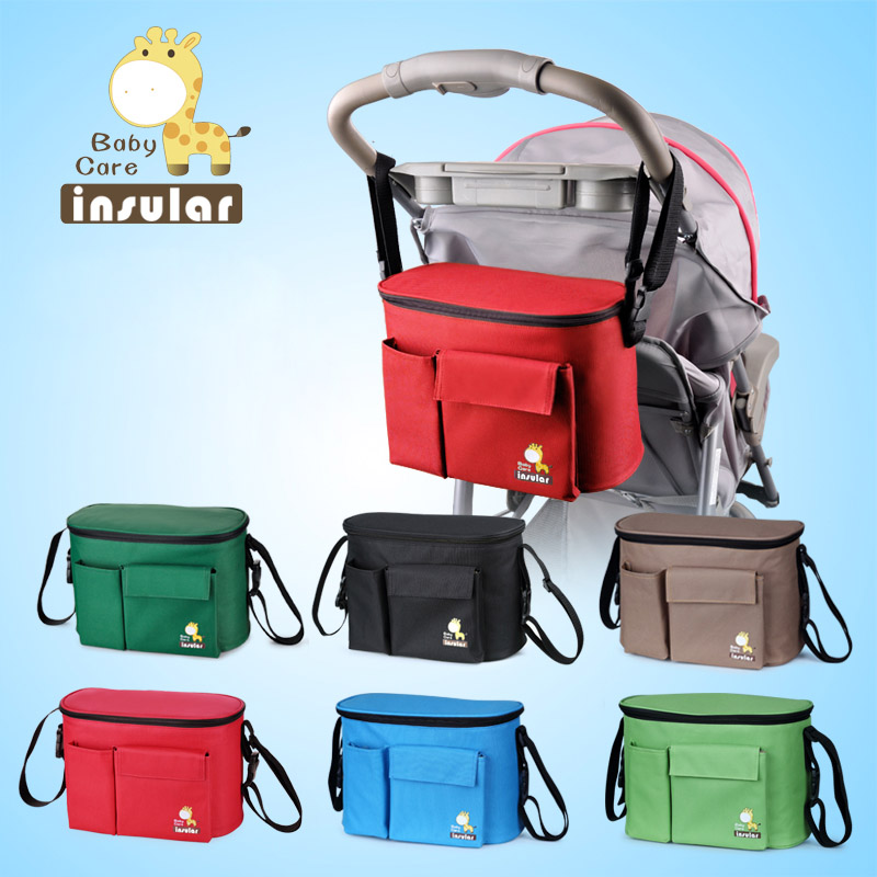 Baby Stroller Multi-function Mummy Bag Maternal And Child Package Liner Insulation Waterproof Can Be Back Hang Stroller Bag