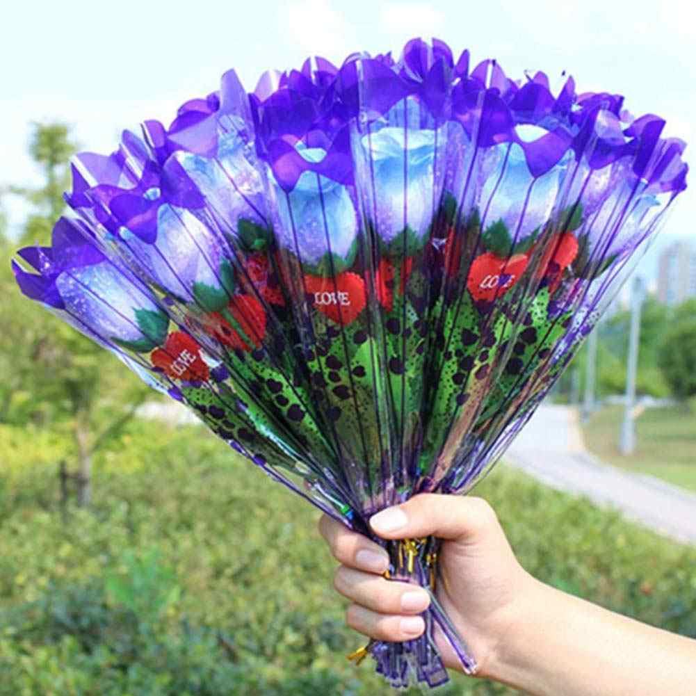1Pc LED Light Up Roseดอกไม้Fakeปลอมดอกไม้วันวาเลนไทน์วันแม่เรืองแสงของขวัญงานแต่งงานhome Decor