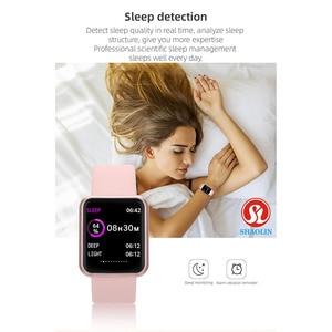 Image 4 - חכם שעון נשים גברים ספורט אופנה עמיד למים שעון פעילות גשש כושר קצב לב ברים Smartwatch עבור אפל שעון PK IWO